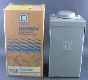 Square D 70 Amp Outdoor Load Center 2 Spaces 4 Circuits New In Box