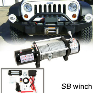 Sb 12000lb 12v Electric Recovery Winch For Truck Suv Wireless Remote 12000lbs