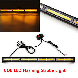 72w Cob Led Emergency Hazard Warning Traffic Advisor Strobe Light Bar Amber New