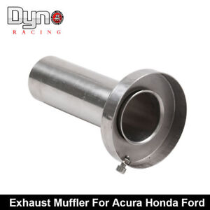 4 Round Tip Exhaust Muffler Insert Removable Silencer Stainless Steel For Honda