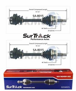 For Saab 9000 Fwd 91 98 Turbocharged Pair Of Front Cv Axle Shafts Surtrack Set