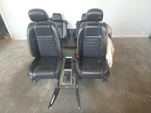 2010 2014 Ford Mustang Gt Black Leather Front Rear Seats W Console Driver