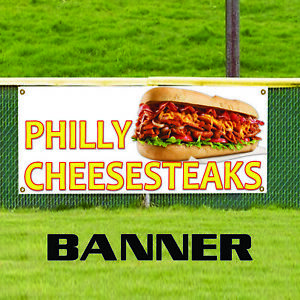 Philly Cheesesteaks Food And Drink Restaurant Advertising Vinyl Banner Sign