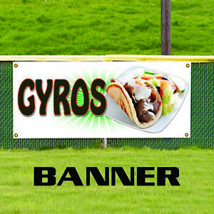 Gyros Food Fair Restaurant Cafe Market Retail Advertising Vinyl Banner Sign