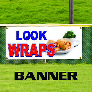 Chicken Beef Wraps Concession Stand Mexican Food Advertising Vinyl Banner Sign