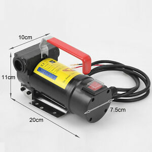 Oil Commercial Auto Portable Electric Fuel Transfer Pump 12v Dc Diesel Kerosene