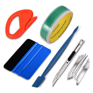 Pro Auto Window Tint Fitting Tools Kit Car Decals Wrap Applicator Squeegee Usa
