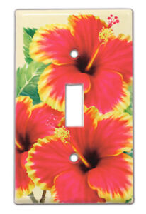 Hawaiian Tropical Light Switch Covers Home Bath Island Decor Hawaii Hibiscus Nib