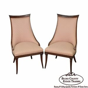 Mahogany Frame Regency Style Fire Side Host Chairs
