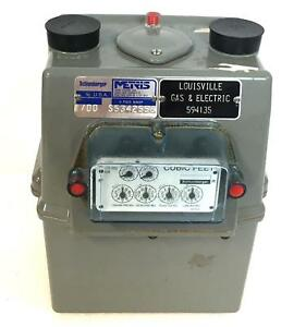 Schlumberger Metris Class 250 Capacity Residential Light Commercial Gas Meter