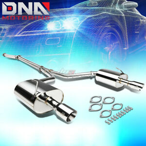 For 09 15 A35 Maxima 3 5 Slant Tip Dual Muffler J2 Performance Catback Exhaust