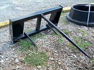 New Dirt Dog Hd Bale Spear For Skid Steer Quick Attach free 1000 Mile Delivery
