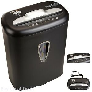 Paper And Credit Card Shredder Office Industrial Tool Cross Cut Led Display New