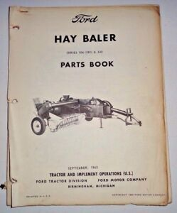 Ford Series 506 350 540 Hay Baler Parts Catalog Manual Original