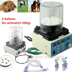 Electronic Led Veterinary Anesthesia Ventilator Breathe Machine bellows Animals