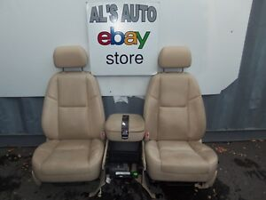 07 14 Cadillac Escalade Tan Beige Leather Front Seats Power Oem Chevy Tahoe Gmc