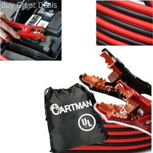 New Heavy Duty Booster Cables 4 Gauge 20 Feet Carry Bag Ul Listed Auto Cartman