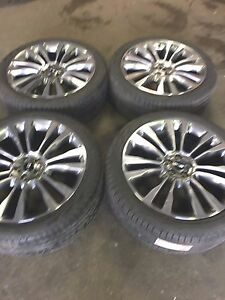 2016 Lincoln Mkx 21 Aluminum Machined Takeoff Set Rims Tires Ind Fa1cf18 10077