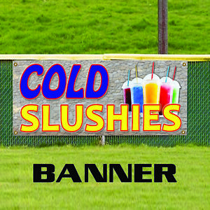 Cold Slushies Concession Stand Ice Cold Fruit Advertising Vinyl Banner Sign