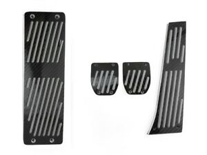 4pcs Black Carbon Fiber Manual Dead Pedals For 1997 2003 Bmw E39 5 Series M5
