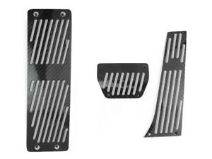 3pcs Black Carbon Fiber Auto Dead Pedals For Bmw E30 E32 E34 E36 E53 X5 M3