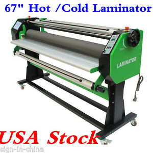 110v 67 Stand Frame Full auto Single Side Wide Format Hot cold Laminator Usa