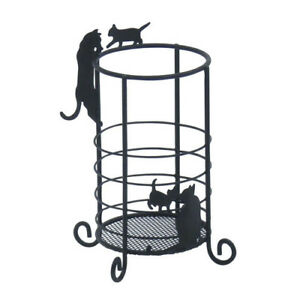 Neko Cat Pen Pencil Ruler Scissor Rack Metal Stand Office Desk Organizer Holder