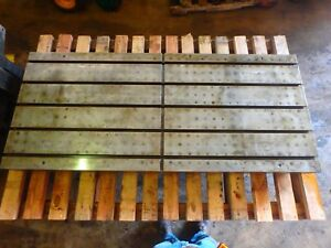 68 5 X 29 5 X 4 5 Steel Welding T slotted Table Cast Iron Layout_5 Slot