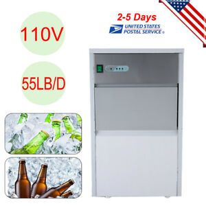 Built in Stainless Commercial Ice Cube Maker Portable Ice Machine Restaurant Us