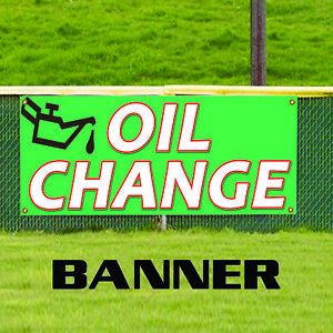 Oil Change Car Auto Body Shop Repair Mechanic Service Advertising Banner Sign