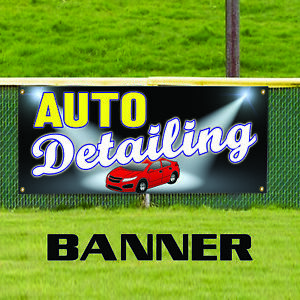 Car Auto Detailing Wash Wax Body Shop Repair Advertising Vinyl Banner Sign
