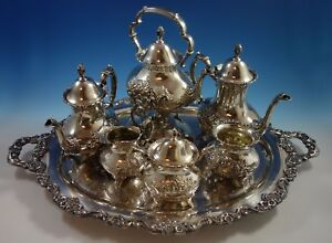 Crest Of Windsor By Poole Sterling Silver Tea Set 6pc With Tray 1805
