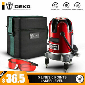 Deko 5 Lines 6 Points Laser Level Self Leveling Multipurpose Cross line Outdoor
