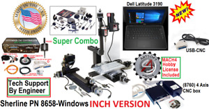 Sherline 8658 Supercombo Dell Laptop Usb Cnc 5 Limit Sw Digitiz Probe Emerg Stop
