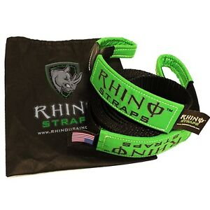 Rhino Usa Recovery Tow Strap 3 X 30ft Lab Tested 31518lb Break Strengt New