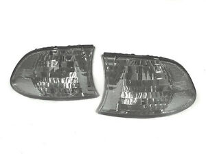 Euro Light Smoke Corner Signal Light Pair For 1999 2001 Bmw E38 7 Series 740 750