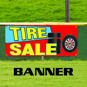 Tire Sale New Used Auto Body Shop Car Repair Advertising Vinyl Banner Sign