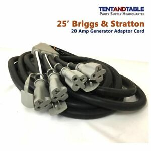 20 Amp Briggs Stratton Generator Adapter Power Cord Set 5 20p r 4 Outlet 25