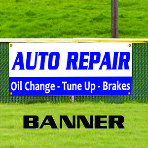 Auto Repair Oil Change Tune Up Brakes Promotion Advertising Vinyl Banner Sign