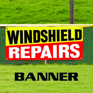Windshield Repairs Auto Car Body Shop Retail Store Advertising Vinyl Banner Sign