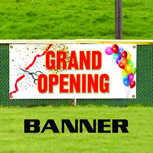 Grand Opening Promotion Retail Banner Sign New Business Now Open Store Shop