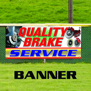 Quality Brake Service Advertising Vinyl Banner Sign Auto Repair Mechanic Shop