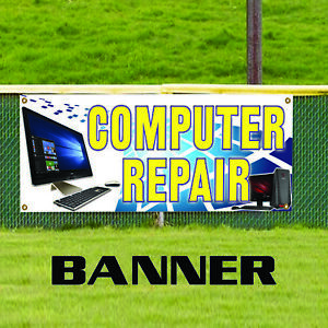 Computer Repair Accessories Retail Business Store Vinyl Banner Sign