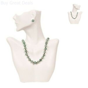 Necklace Display Earring Bust Decor Jewelry Holder Stand Half Body Mannequin