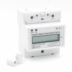 Baomain Dds238 4 20100 Single Phase Din rail Type Kilowatt Hour Kwh Meter 220v