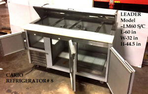 Leader 60 Bain Marie Commercial Kitchen Sandwich Prep Table Cooler Refrigerator