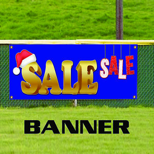Christmas Santa Sale Retail Store Discount Available Vinyl Banner Sign