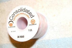 Consolidated 36 Mag Enameled Magnet Wire 36 Awg 1 Pound Full Spool