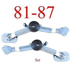 81 87 Chevy 2pc Hood Hinge Assist Kit Left Right Gmc Truck Blazer Crew Cab Set