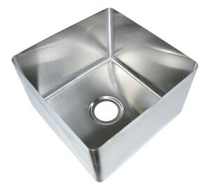 Bk Resources 16 X 18 X 14 One Compartment Stainless Steel Weld in Sink